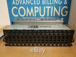 Dell PowerVault MD1000 SAS/SATA Storage Array Dual Controllers & PSU, rack rails