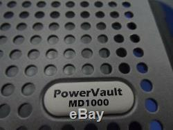 Dell PowerVault MD1000 Storage Array 15X 600GB HARD DRIVES 2X JT517 Controller