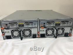Dell PowerVault MD1000 Storage Array 2x Controllers 2x PSUs 15X caddies