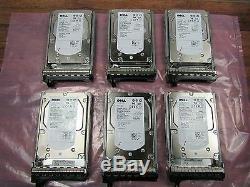 Dell PowerVault MD1000 Storage Disk Array with 3x 1TB + 6x 146GB HDD 2x EMM 2x PSU