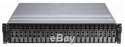 Dell PowerVault MD1120 2U 24 bay 2.5 SAS Storage Array 2 x contr 2xP 24 x cadd