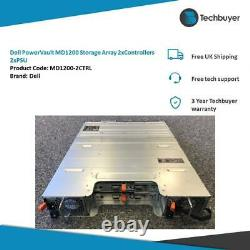 Dell PowerVault MD1200 Storage Array 2 x Controllers 2 x PSU