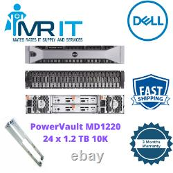 Dell PowerVault MD1220 Storage Array 24x 1.2 TB 10K SAS HDD Dual Controller