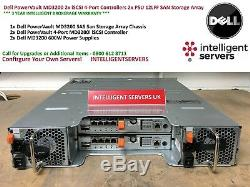 Dell PowerVault MD3200 2x iSCSI 4-Port Controllers 2x 600W SAN Storage Array