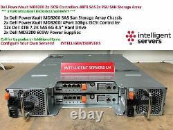 Dell PowerVault MD3200 48TB 2x iSCSI Controllers 12x 4TB SAS SAN Storage Array