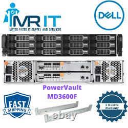 Dell PowerVault MD3600F Storage Array Controller 6 x 2TB 6 X 600GB HDD