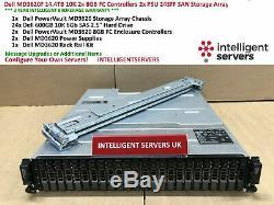 Dell PowerVault MD3620F 14.4TB 10K SAS 2x 8GB FC Controller SAN Storage Array
