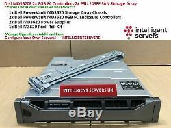 Dell PowerVault MD3620F 2x 8GB FC Controller 2x PSU 24x SFF SAN Storage Array