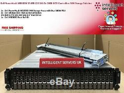 Dell PowerVault MD3820i 57.6TB 12G SAS 2x 10GB iSCSi Ctrl SAN Storage Array